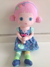 """Mooshka Zapf Creations Rag Doll With Blue Eyes And Pink Tails Approximately 13"""""""