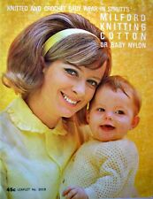 Knitting & Crochet Pattern Book - BABY WEAR - IN Cotton or Baby Nylon - VGC