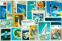 World Topical 100 pcs Off Paper Stamps Collection Lot Astronomy Space Cosmos