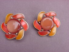 VINTAGE LISNER THERMOSET CLIP ON TYPE EARRINGS