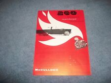 """1955 McCulloch Supercharger Ford Thunderbird Vintage Ad """"260 Horsepower..."""""""