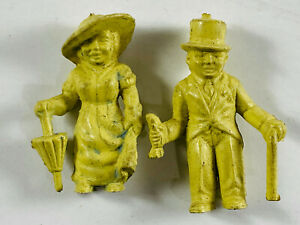 Pair (x2) Marx Super Circus Midgets Little People Sideshow Carnival Toy Figures