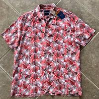 Tommy Bahama Shell We Dance 100/% Silk Men/'s Red Camp Shirt Big Tall XLT 2XT 3XT