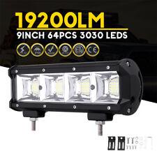 9 Inch 192W 64 LED Work Light Bar 19200LM Fog Driving Offroad ATV Car Truck