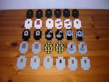 ( F10 ) LEGO Wände Mauern mit Fenster Ritterburg  6055 6074 6076 6085  6090