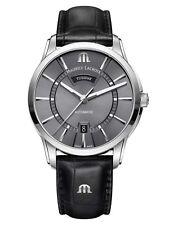 Reloj Automático Maurice Lacroix Pontos Day Date ml 115 41mm gris piel