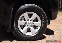 "4X NEW GENUINE TOYOTA PRADO GXL 2017 17"" Wheels & MONSTA AT Tyres HILUX SR5 4X4"