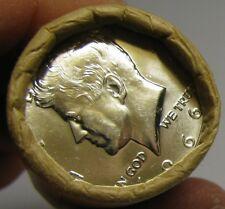 1966 Obw Original Bank Wrap Roll Bu Uncirculated Silver Kennedy Half Dollars