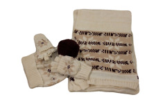 Charter Club Women's Cream Nordic 3 Piece Gift Set, One Size Fits All