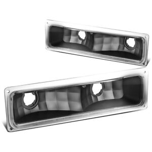 PAIR FRONT BUMPER LIGHT TURN SIGNAL LAMPS FOR 94-99 CHEVY/GMC C/K PICKUP TRUCK