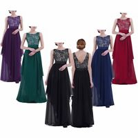 Women Adult Bridesmaid Long Dress Wedding Ball Prom Formal Evening Party Gown