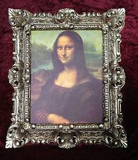 MONA LISA CUADRO MARCO PLATA ANTIGUA Mural CUADRO Leonardo Da Vinci 45x38