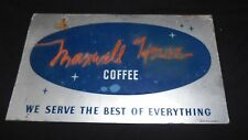 Rare 40's Maxwell House Coffee Counter Sign Display Radio Lite Neon Ribbon