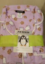 Joe Boxer Ladies Flannel Pajamas Purple with Milk & Cookies, Size Sm - NWT!