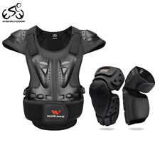Motorcycle Armour Vest Chest Back Protector Motocross Racing Knee Elbow Pads