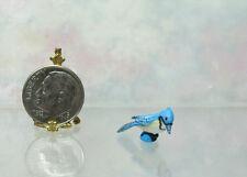 Dollhouse Miniature Blue Jay Bird #1, Fairy Garden