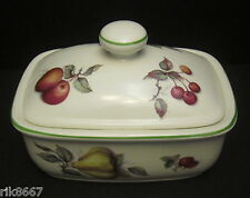 Scatter Fruit English Fine Bone China Butter Dish By Milton China