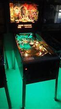 Congo Cirqus Voltaire Scared Stiff Attack Mars Pinball Cabinet light mod Green