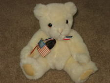 "Vtg Gund Collectors Classic 9"" Jointed Teddy Bear USA Flag Patriotic 1998 HTF"
