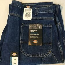 Dickies Carpenter Relaxed jeans Straight Fit Blue 44 x 30 Hammer Loop NWT Blue