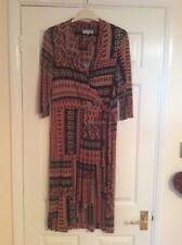 Per Una mock wrap dress Aztec/ geometric pattern size medium