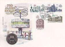 """Numisbrief    DDR  5 Mark  """"Berlin Alexanderplatz 750 Jahre Berlin 1987"""""""