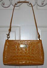 NEW Brahmin Yellow Croc Leather Purse Handbag