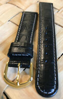 Genuine ESQ by MOVADO 18mm Black Padded Watch Band Strap Retail $45.00