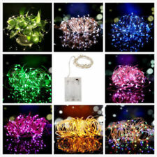20/40/50/200 LED Battery & Plug Micro Rice Wire Copper Fairy String Lights Party