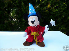 🎀 Peluche Doudou Mickey Magicien Disneyland 40 Cm ⚠ Un Peu Défraichi 🌟 Usée