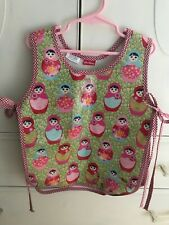 Lou Harvey Coated Canvas Children's Smock Russian Dolls Gingham Check