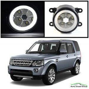 LAND ROVER DISCOVERY HIGH POWER HALO RING DAYTIME FULL LED FOG LIGHTS 2010-2013