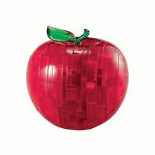 Crystal Puzzles 3D Red Apple 44 Piece Designer Jigsaw Brain Teaser Model Kit