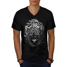 Cougar Puma Killer Cat Hunting Men V-Neck T-shirt S-2XL NEW | Wellcoda