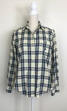 RALPH LAUREN Plaid Button Down Blouse Top Size 8P