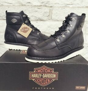 Harley Davidson Mens Hagerman Moc Toe Wedge Motorcycle Boots Size 12 D93469 $138