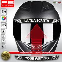 Adesivo Sticker Casco Helmet Visiera Auto Moto Personalizzato con la TUA SCRITTA
