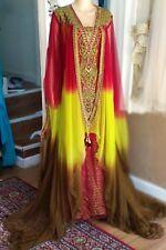Arab Vintage kaftan Gothic Wedding Dresses Chiffon batwing Bridal Gowns Long