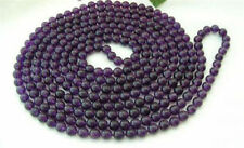 Long 36 Inches 8mm Russian Amethyst Round Beads Gemstone Necklaces