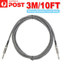 """3M Electric Guitar Amp Cable Cord Lead Instrument Audio 6.5mm 1/4"""" Male M/M"""