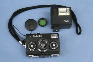 Use a Classic!  ROLLEI 35 Compact Camera with Accessories