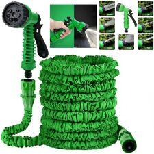 100FT Extra Long Expandable Flexible Garden Water Hose Pipe w/ Spray Nozzle Gun