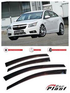 For Chevrolet Cruze 2008-2014 Sedan Window Deflector Visor Vent Rain Wind Guard