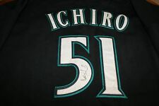 ICHIRO SUZUKI AUTOGRAPHED AUTO SIGNED SEATTLE MARINERS JERSEY 30TH PATCH BLACK