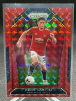 2019-20 Panini Prizm Soccer Daniel James Manchester United Red Mosaic # /159