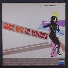 "VENTURES: Dance With The Ventures LP (dark blue label, 7"" split seams, 'Twist P"