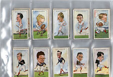 cigarette cards rugby internationals 1929 full set