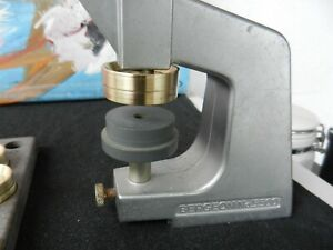 Bergeon 5500 Glass Press & Dies and for fitting case backs on watches