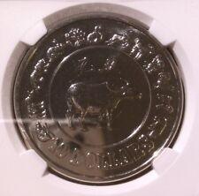 Singapore 1985 Ten Dollars Lunar Series Ox NGC MS 67