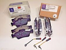 Mercedes Front and Rear Brake Pad Set with Sensors Genuine 0044200420 0074201020